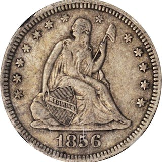 1856 Liberty Seated Quarter. EF-40 (NGC).