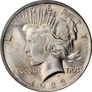 1923 Peace Silver Dollar. MS-65 (PCGS).