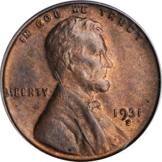1931-S Lincoln Cent. MS-63 RB (PCGS).