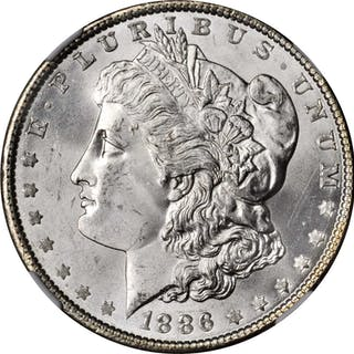 1886 Morgan Silver Dollar. MS-66 (NGC).