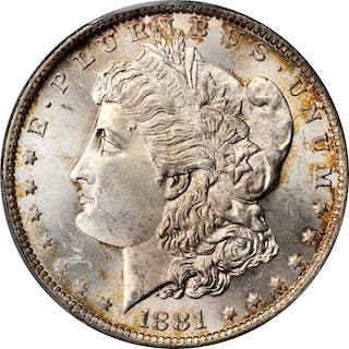 1881-O Morgan Silver Dollar. MS-64 (PCGS).