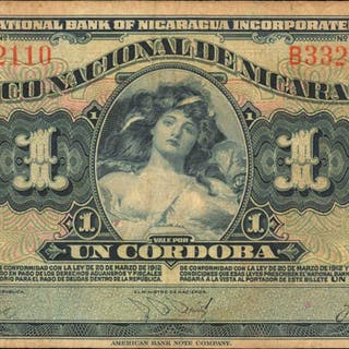 NICARAGUA. Banco Nacional de Nicaragua. 1 Cordoba, 1937. P-63a. Fine.