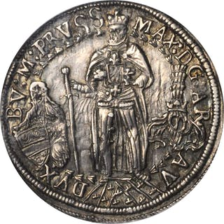 GERMANY. Teutonic Order. 1/4 Taler, ND (ca. 1615)-CO. Hall Mint. Maximilian