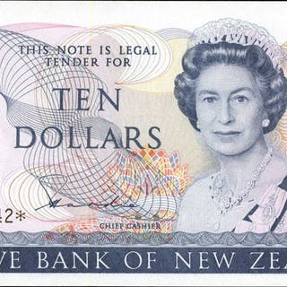 NEW ZEALAND. Reserve Bank of New Zealand. 10 Dollars, ND (1981-92).