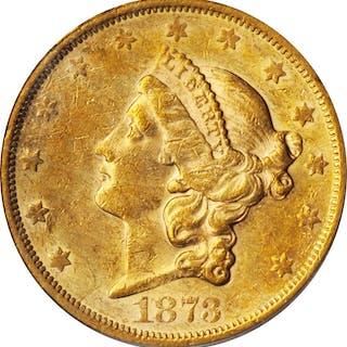 1873-S Liberty Head Double Eagle. Close 3. AU-50 (PCGS). OGH.