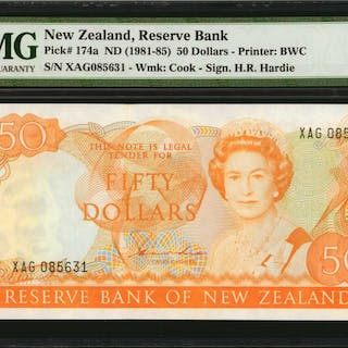 NEW ZEALAND. Reserve Bank of New Zealand. 50 Dollars, ND (1981-85).