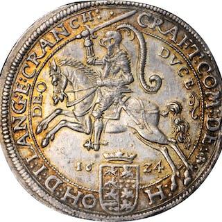 GERMANY. Hohenlohe-Neuenstein-Oehringen. Taler, 1624. Nurnberg Mint.