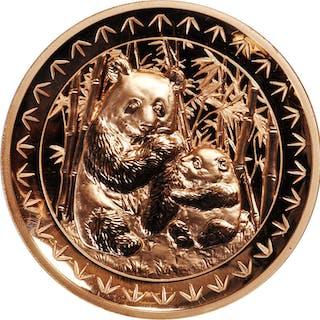 CHINA. Copper Medal, 2017. Panda Series, Beijing International Coin