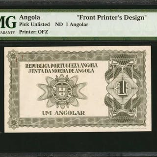 ANGOLA. Republica Portugueza Angola. 1 Angolar, ND. P-Unlisted. Front