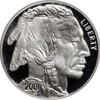 Lot of (2) Certified American Buffalo Silver Dollars.