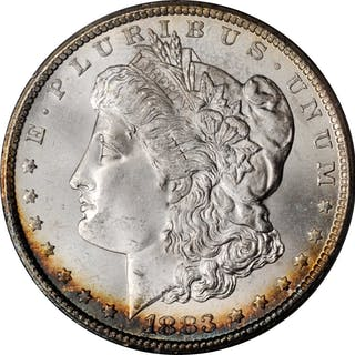 1883-CC Morgan Silver Dollar. MS-64 (PCGS). OGH--First Generation.