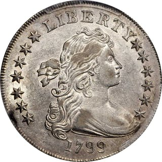 1799 Draped Bust Silver Dollar. BB-152, B-15. Rarity-3. Irregular