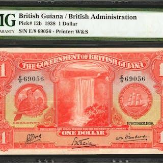 BRITISH GUIANA. Government of British Guiana. 1 Dollar, 1938. P-12b.