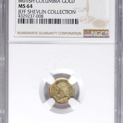 Canada  Undated (One) British Columbia Gold  G&L-540  MS-64