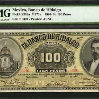MEXICO. Banco de Hidalgo. 100 Pesos, 1904-14. P-S309a. PMG About Uncirculated