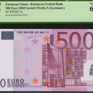 EUROPEAN UNION. European Central Bank. 500 Euro, 2002. P-7x. PCGS