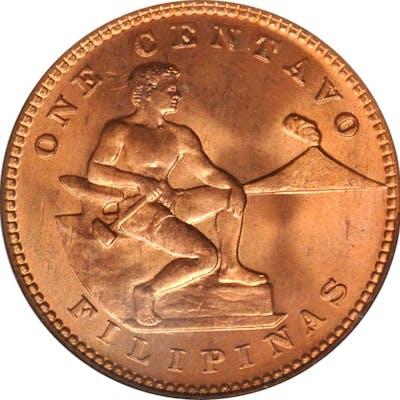 PHILIPPINES. Centavo, 1928-M. Manila Mint. NGC MS-67 Red.
