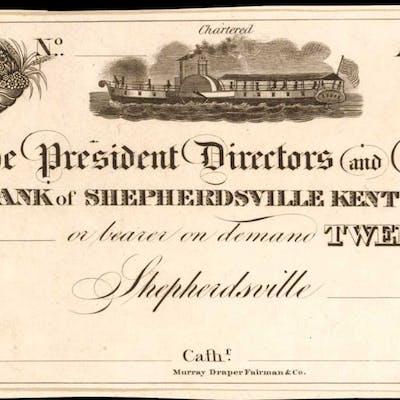 Shepherdsville, Kentucky. Bank of Shepherdsville Kentucky. ND (18xx).