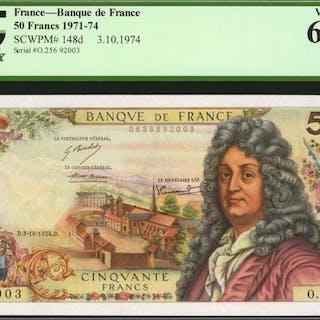 FRANCE. Banque de France. 50 Francs, 1971-74. P-148d. PCGS Currency