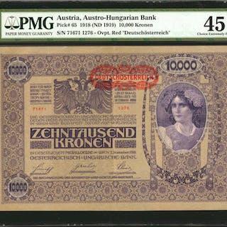 AUSTRIA. Austrian-Hungarian Bank. 1000 & 10,000 Kronen, 1902-18. P-8a
