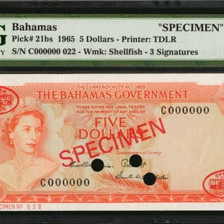 BAHAMAS. Mixed Banks. 50 Cents to 100 Dollars, 1965-68. P-21bs, 26s.