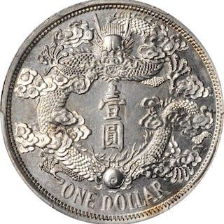CHINA. Silver Reversed Dragon Dollar Pattern (Type II), Year 3 (1911).