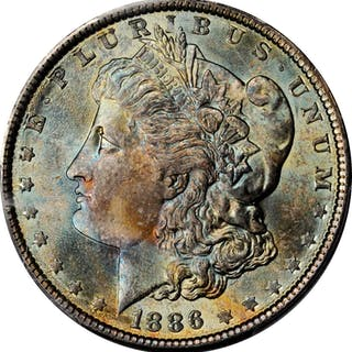 1886 Morgan Silver Dollar. MS-65 (PCGS). CAC.