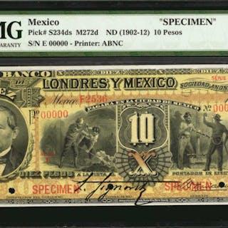MEXICO. Banco de Londres y Mexico. 10 Pesos, ND (1902-12). P-S234ds.