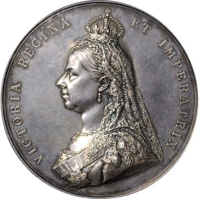 GREAT BRITAIN. Victoria Golden Jubilee Silver Medal, ND (1887). PCGS