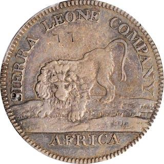 SIERRA LEONE. Silver 100 Cents (Dollar), 1791. PCGS Genuine--Graffiti
