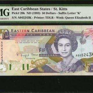 EAST CARIBBEAN STATES. Eastern Caribbean Central Bank. 50 Dollars