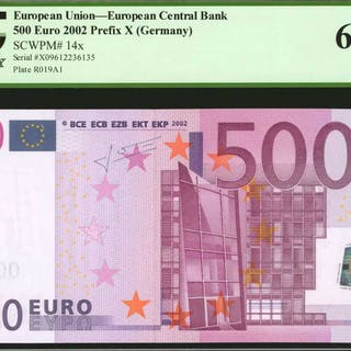 EUROPEAN UNION. European Central Bank. 500 Euro, 2002. P-14x. Germany.
