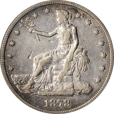 1878-CC Trade Dollar. VF-30 (PCGS).