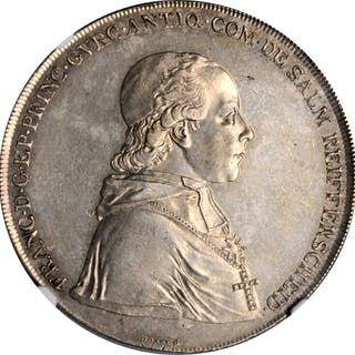 AUSTRIA. Gurk. Taler, 1801. Franz Xavier V. NGC Unc Details--Cleaned.