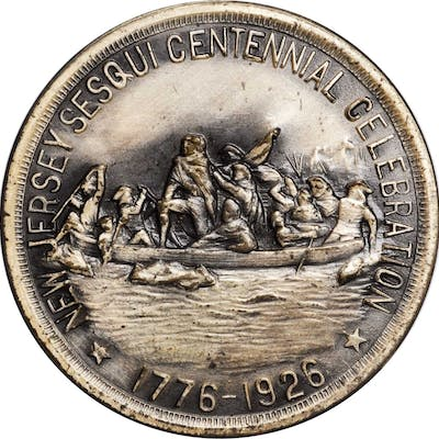 1926 New Jersey Sesquicentennial Celebration. Silver-Plated Bronze.