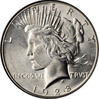 1928 Peace Silver Dollar. MS-64 (NGC).