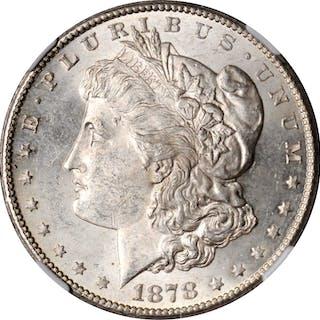 Lot of (3) 1878-S Morgan Silver Dollars. MS-63 (NGC).
