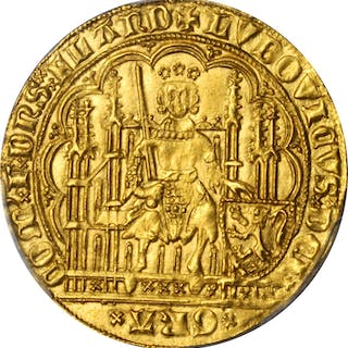 BELGIUM. Flanders. Chaise d'Or, ND (1346-84). Louis II de Male. PCGS