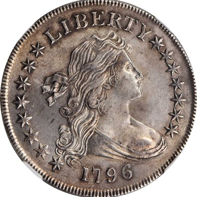 1796 Draped Bust Silver Dollar. BB-65, B-5. Rarity-4. Large Date