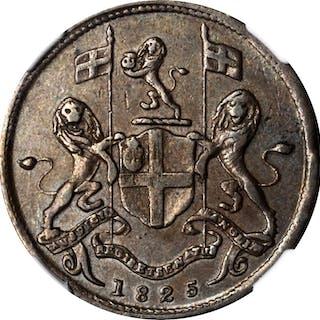 MALAYA. Penang. British East India Company. Cent, 1825. NGC EF-40 Brown.