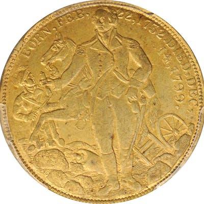"""1855"" (ca. 1863) New York Census Medal. Brass. 37 mm. Musante GW-571"