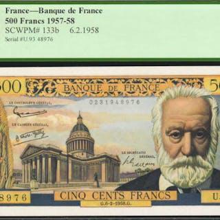 FRANCE. Banque de France. 500 Francs, 1957-58. P-133b. PCGS Currency