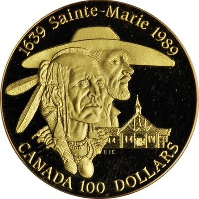 CANADA. 100 Dollars, 1989. Ottawa Mint. BRILLIANT PROOF.