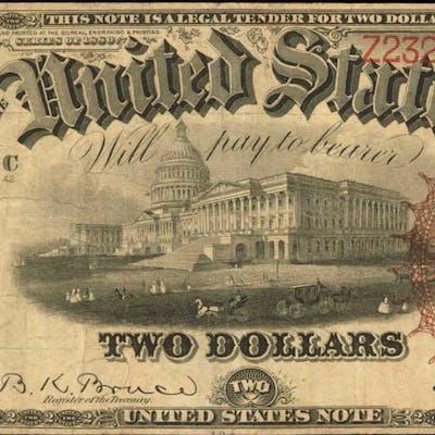 Fr. 52. 1880 $2 Legal Tender Note. Very Fine.