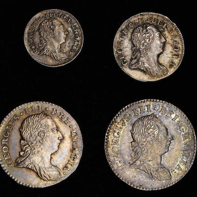GREAT BRITAIN. Maundy Set (4 Pieces), 1786. London Mint. George III.