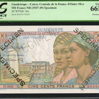 GUADELOUPE. Caisse Centrale de la France d'Outre-Mer. 500 Francs