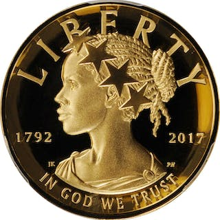 2017-W American Liberty High Relief $100 Gold Coin. First Strike.