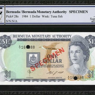 BERMUDA. Bermuda Monetary Authority. 1, 5 & 10 Dollars, 1978-84. P-28s