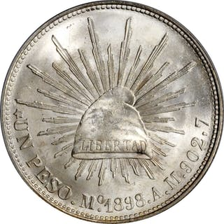 MEXICO. Peso, 1898-Mo AM. Mexico City Mint. PCGS MS-65 Gold Shield.