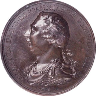 GREAT BRITAIN. Great Britain and Ireland Union Bronze Medal, 1801.